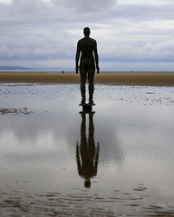Beach Reflection (JodBart) Tags: crosby beach sand view sky antonygormley anotherplace