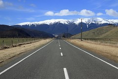 Road to the Mountain (wisnesky1) Tags: mountain snow nature road newzealand nz canon landscape outdoor outside lines