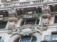 Satyr Gargoyles - The Ansonia Apartment Building 4023 (Brechtbug) Tags: satyr gargoyles the ansonia apartment building now condo upper west side new york city 2109 broadway between 73rd 74th streets built 1899 opened 1904 beaux arts architectural style mansard roof architect paul e m duboy featured 1992 film single white female bridget fonda jennifer jason leigh home pogo cartoonist disney animator walt kelly mobster arnold rothstein athletes jack dempsey babe ruth 8222016 nyc 2016