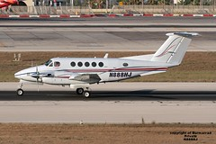 N888HJ LMML 27-07-2016 (Burmarrad) Tags: airline private aircraft beechcraft b200 super king air registration n888hj cn bb444 lmml 27072016
