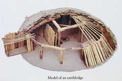 Model of an Earthlodge (Piedmont Fossil) Tags: northdakota nativeamerican fortclark state historic site indian village sign earthlodge diagram