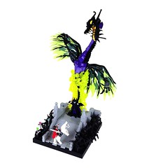 And All the Powers of Hell! (Tim Lydy) Tags: lego sleeping beauty disney maleficent dragon powers hell brickworld chicago 2016 vignette phillip prince