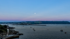 Plymouth Sound at Dusk (Rich Walker75) Tags: dusk plymouth evening devon landscape colour color colors colours blue pink sky landscapes uk england plymouthsound
