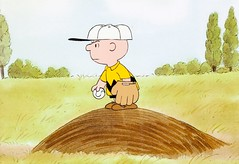The Charlie Brown and Snoopy Show production cel (1983) (Tom Simpson) Tags: charliebrown peanuts animation cel animationcel television cartoon cartoons vintage art painting 1980s charlesschulz charlesmschulz vintagetelevision pitcher pitch pitchersmound baseball game
