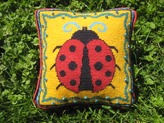 2015-09-05_Ladybug-needlepoint-pillow-1 (mmmyarn) Tags: needlepoint