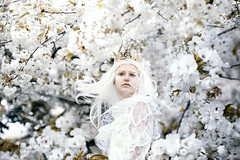 A swan in spring... (.bella.) Tags: bella kotak bellakotak photographer photograph photography magic fairytale nymph queen princess girl girls woman women lying down grass summer spring flower flowers flora blossom pink petal petals moment royal regal crown fae faeries faerie fairy magical fairytas phaseone phase one portrait denmark drape draped wander sisters princesses queens enchanted worlds blossoms boom white gold leaf