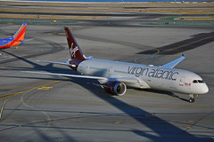 G-VOOH (Rich Snyder--Jetarazzi Photography) Tags: virginatlanticairways virginatlantic virgin vir vs boeing 787 7879 b787 b789 gvooh misschief arriving arrival taxi taxiing sanfranciscointernationalairport sfo ksfo millbrae california ca airplane airliner aircraft jet plane jetliner ramptowera rcta atower