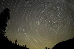 Revolving around Polaris on the Rio Chama (garycascio) Tags: nightsky polaris northstar nighttimephotography astralphotography