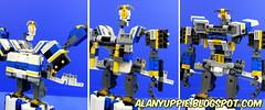 LEGO Triple changer Railrazor (alanyuppie) Tags: lego transformers transform triple changer autobot cybertron bullet train shinkansen space shuttle robot railway railroad rail caboose coach commuting outdoor