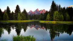 Sunrise at Schwabacher's (Rajesh Jyothiswaran) Tags: grandteton reflection sky teton water alpenglow art beaver field grand grass jackson jacksonhole landing landscape lower morninglight mountain outdoor park parks plant pond rain schwabacher serene skyline storms sunrise tetons thunder trees west western wyoming sony a7rii fe 1635f4 long exposure fav10 fav20