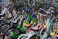 Bike Parking Chaos (Mondmann) Tags: bikeparking bicycleparking chaos bikes bicycles fukuoka japan asia eastasia hakata parking colorful multicolored transportation kyushu mondmann canonpowershotg7x