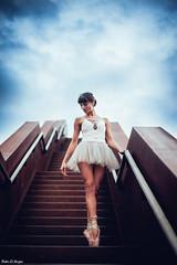 Stairway dancer (pedroelbosque) Tags: pedroelbosque portrait people woman ballet beauty belgium brussels dance lola vloeyberg