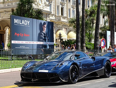 Full Carbon Pagani Huayra (G-E Supercars) Tags: pagani huayra zonda supercars cars cannes hypercars carlton luxe carbon blue voiture france summer sun french riviera cote dazur ksa