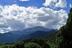 Clouds Over America's Mountain (Patricia Henschen) Tags: gardenofthegods city park colorado coloradosprings clouds mountain pikespeak centralgarden redrocks rocks urban red