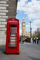 London's Towering Clocks and Phonebooths (Stephen Brown - smb51095) Tags: sky red city people color street travel blue clouds europe tourism urban architecture building bright design london uk england fun postcard day colorful big joy tour ben bigben phonebooth phonebox redphoneboothred phoneboothred phoneboxtouristadventurewanderlustenglishsterotypicalstereotypicaltravelsnikonnikon d7200 wide angle tall towering tower clock clocks vintage