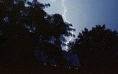 lightening above the shed (toonboy7) Tags: film liecam4 ektar100 lightening