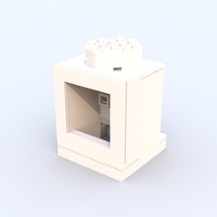 Angular Brick 1x1 ([ dA ]) Tags: lego brick angular bluerender ldd
