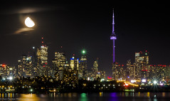 Dramatic Toronto...! (ravi_pardesi) Tags: toronto ontario canada moon cntower night nightphotography longshutter longexposure drama dramatic amazing lovely outdoor fall 2016