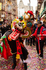 Dancing Dragons (shanaaja) Tags: new york chinatown city streets celebration confetti colorful neujahr winter