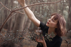 (audreyblackthorn) Tags: self portrait forest autumn woods fall