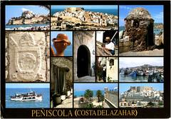 postcard - from chlebek, Poland (Jassy-50) Tags: postcard postcrossing multivew peniscola costadelazahar spain