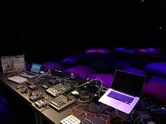 (michel banabila) Tags: stage soundcheck mixer laptop fluister festival music sound table venue stompboxes looper ditto modular set setup ableton livemix cablelism kaoss
