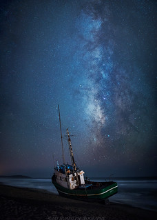 Lonely Boat under the Stars
