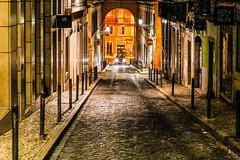 Rua Luz Soriano - Lisboa (Bouhsina Photography) Tags: street rua luz soriano lisboa lisbonna portugal night architecture perspective voiture 2016 bouhsina bouhsinaphotogrphy canon 5diii ef85mm couleur arcade wow