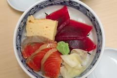 Best Meal I've Had (cgnss13) Tags: tuna salmon ginger egg wasabi sashimi sushi fresh fish tokyo japan tsukiji market bowl restaurant food street