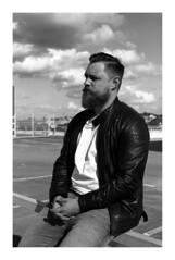 Beard Rule #02 - Fear the Beard (Alex Sander S.) Tags: epsonv500 classicblackwhite portrait adoxsilvermax istillshootfilm iso100 planar45mm contaxg1 45mm caffenol darmstadt film filmisnotdead adox classicblackandwhite believeinfilm messsucher carlzeiss filmphotography carlzeissplanar urban contax 35mmfilm rangefinder analog