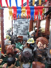 A heroes farewell (themaestro2) Tags: castle lego guildsofhistorica goh avalonia retakingofeolas andfore village army farewell