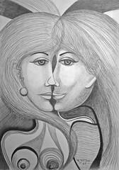 DSC01830 Models (Rodolfo Frino) Tags: art artistic pencil workonpaper pencilwork drawing rendering modernart portraitofawoman illustration monochome bw