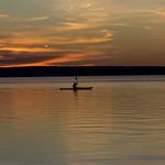 Kayaking at Sunset, Waskesiu Lake, Prince Albert National Park thumbnail