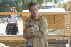 The Rabbit Whisperer (aaronrhawkins) Tags: rabbit cuddle pet boy farm petting zoo heehawfarms pleasantgrove utah pumpkinpatch halloween animal small jacket jackson family aaronhawkins