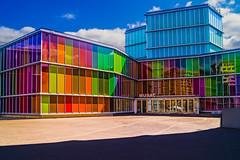 ... Colores de Len  .. (Lanpernas 4.0) Tags: architecture len musac museo arte contemporneo spain espaa colors colores vidrieras ventanas tintadas vivid coloreschillones