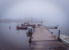 Misty dock on Lapaluoto (LuonnonKuvaaja) Tags: lapaluoto raahe kalasatama boats dock misty sea fog october evening calm finland fishermen water bothian bay