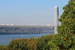 IMG_9672 (kz1000ps) Tags: newyorkcity nyc manhattan cityscape urbanism washingtonheights hudsonriver newjersey palisades fortlee riversidedrive georgewashingtonbridge gwb i95 interstate highway fall autumn foliage leaves colors yellow october
