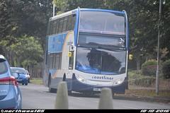 15602 (northwest85) Tags: stagecoach worthing coastliner 700 gx10 hbl 15602 scania alexander dennis adl enviro 400 littlehampton bus gx10hbl