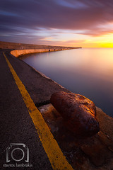 Mornings Of Rust (Stavros_Lmb) Tags: ocean sunset sea sky seascape clouds port sunrise landscape nikon long exposure ship tripod dramatic greece crete heraklion dreamscape christisrisen d700