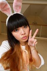 (treasurebelle) Tags: bunny me girl indonesia ombre bunnyears indonesian deedee gyaru selca ombrehair treasurebelle piccolettabelle