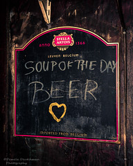 Soup du Jour (pameladeutchman) Tags: nyc newyorkcity beer sign bar stellaartois soupoftheday