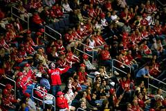 Goat Leads Another Cheer (clydeorama) Tags: usa ice hockey nhl fan washingtondc dc washington caps icehockey goat center spotlight cheer verizon capitals nationalhockeyleague verizoncenter