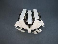 stripped down top view (Messymaru) Tags: original robot lego gunner mecha mech moc