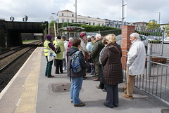 Waiting for the train (WFHSusan) Tags: clifton redland wfh redlandchurch stgeorgestrollers