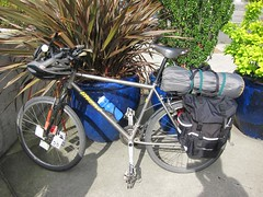 Tic Toc's Litespeed (joeball) Tags: seattle camping bike bicycle forest river ben country north fork national snoqualmie point83 bikecamping bc8 bencountry 20130511 bencountry8 notbencountry