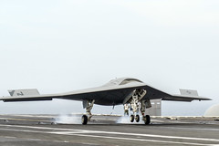 An X-47B conducts a touch and go landing. (Official U.S. Navy Imagery) Tags: atlanticocean