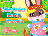 可愛復活節兔子換裝(Cute Easter Bunny Dressing Up)
