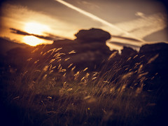 Sunset on Hound Tor (i-r-paulus) Tags: hdrphotography cosmicartelevisionlens legacylens houndtor tor dartmoor granite grass sunset