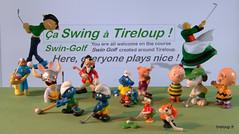 Super Swin-Golf day at tireloup (Tireloup) Tags: swingolf tireloup becassine gaston lapincrtin smurf schtroumpf dingo picsou snoopy linus charliebrown peanuts