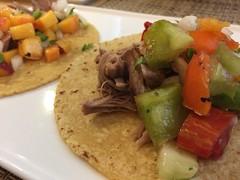 Carnitas taco with tomato salsa (htomren) Tags: phonepics food tacos pork